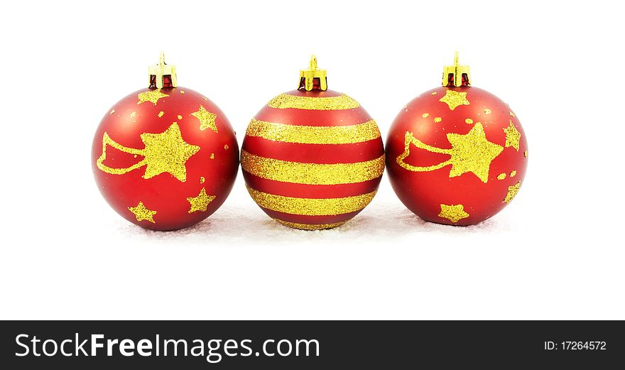 Hand painted Christmas baubles