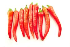 Free Red Chilis From Latin America Royalty Free Stock Photo - 17270965