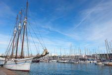 Free Sailboat In Barcelona Harbor. Stock Image - 17270981