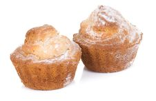 Two Muffins Isolated On White Stock Image