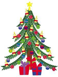 Free Christmas Tree Royalty Free Stock Photography - 17271147