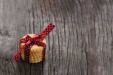 Cookies Decorated With Ribbon Royalty Free Stock Images