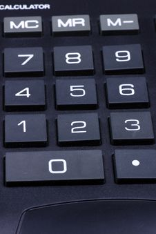 Keyboard Of A Calculator Stock Photo