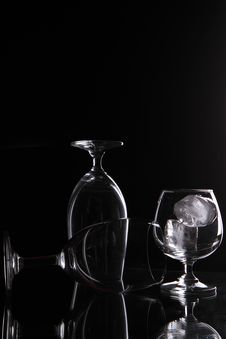 Shadow Glass Royalty Free Stock Image