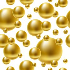 Free Golden Balls Seamless Background. Stock Photography - 17273902