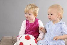 Free Blonde Babies Playing Stock Photo - 17274350