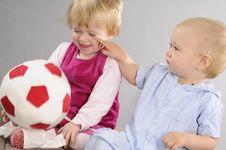 Free White Babies Playing Stock Photo - 17274360