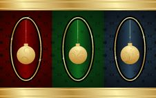 Free Set Christmas Balls Royalty Free Stock Photography - 17274667