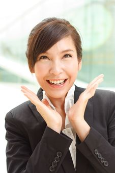 Free Cheerful Business Lady Stock Photos - 17274793