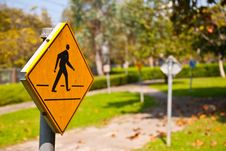 Free Across Road Sign Stock Image - 17275071