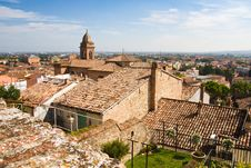 Free View Over The Roofs Of Santarcangelo Royalty Free Stock Images - 17275239