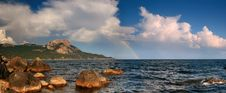 Rainbow Over The Ocean Stock Image