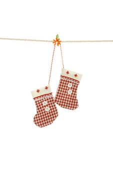 Free Christmas Clothesline Royalty Free Stock Photography - 17276207