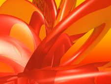 Free Orange Circle Abstract Stock Image - 17276351