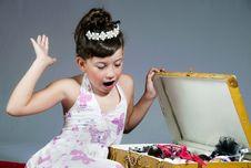 Free Surprised Princess Stock Photography - 17276522