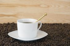 Free Cup Of Coffee With Smoke Royalty Free Stock Photography - 17276537