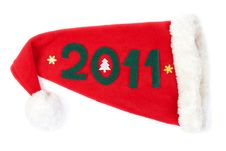 Red Hat Santas In Numbers 2011 Royalty Free Stock Photo