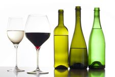 Free White And Red Wine Stock Photography - 17276682