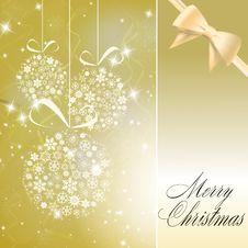 Free Abstract Christmas Balls Made Of White Snowflakes Stock Photo - 17276790