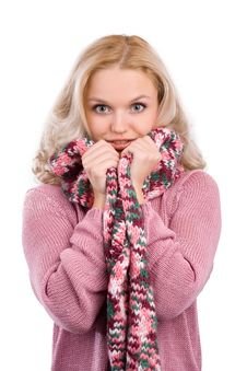 Free Beautiful  Girl In Her Winter Warm Clothing Stock Photo - 17276880