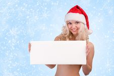 Free Christmas Woman Royalty Free Stock Photo - 17277025