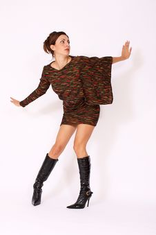 Free Fashion Model Posing Royalty Free Stock Image - 17277176