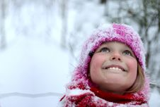 Little Girl  In Snow .