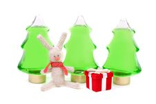 Free Knitted Rabbit And A Red Box Gifts Stock Photo - 17277220
