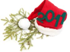 Free Inscription 2010 On Red Hat Santa Stock Images - 17277574