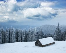 Free Winter Landscape In Mountains Stock Photo - 17277680