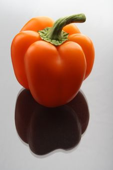 Free Sweet Bell Pepper, Grey  Background Stock Images - 17277964