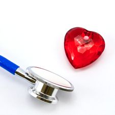 Free Heart And A Stethoscope Stock Images - 17279294