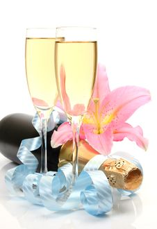 Free Wine And Streamer Stock Images - 17279344