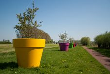 The Biggest Flowerpots In The World Stock Photo