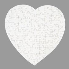 Free The Empty Puzzle Isolated On Gray Stock Images - 17279444