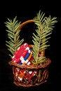 Free Chips Basket Bonus For Christmas Stock Images - 17283934