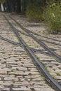 Free Tram Rails On Cobblestone Royalty Free Stock Images - 17283949