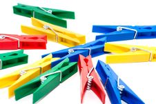 Free Colored Clothespin Royalty Free Stock Images - 17280529