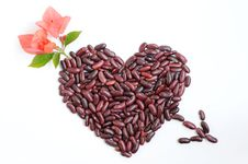 Heart Made Of Beans Stock Image