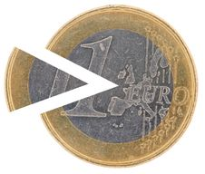 Free Coin 1€ With A Remoted Sector Stock Images - 17280874