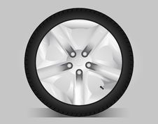 Free Aluminum Wheel -  Illustration Royalty Free Stock Image - 17280906