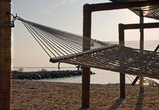Free Resort Hammocks At Sunset Royalty Free Stock Image - 17281006