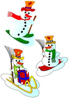 Free Snowmen Stock Image - 17281591