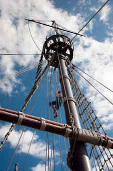 Free Mast Of The Replica Of A Columbus S Ship Stock Photography - 17281742