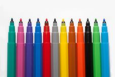 Free A Row Of Felt-tip Pens Stock Image - 17281771