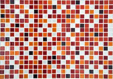 Free Red Ceramic Mosaic Background Royalty Free Stock Images - 17281869