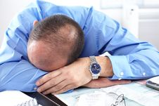 Free Businessman Sleeping Stock Image - 17282211