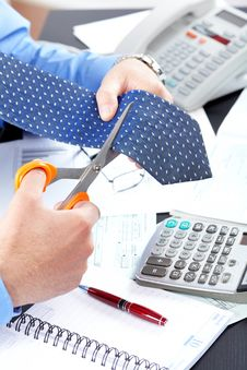 Free Businessman Cutting The Tie Royalty Free Stock Photos - 17282248
