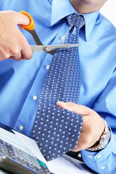 Free Businessman Cutting The Tie Royalty Free Stock Photo - 17282255