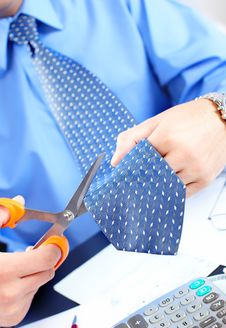 Free Businessman Cutting The Tie Stock Images - 17282454